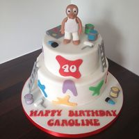 Painter Decorator Morph Cake   Painter decorator Morph cake