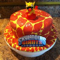 Skylander Molten Hot Dog Cake   Skylander Molten Hot Dog cake for my son's 6th birthday