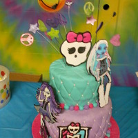 Monster High Birthday Cake Monster High birthday cake for my daughter's 11th birthday