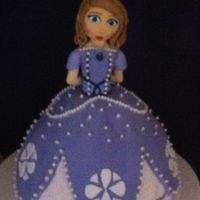 Sofia The First Cake This is a practice birthday cake I was experimenting with I wanted to try to recreate Sofia The First and this is how it turned out.