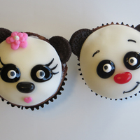 Panda Cupckes These are Panda cupcakes. I used Oreo Cookies to make their ears and they have jelly bean noses.