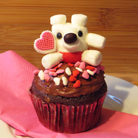 Valentine's Marshmallow Mini Bear By Sparked Ideas This little bear makes a great Valentine's Day craft for kids, a small gift, or a cupcake topper. I made a video tutorial on how to...