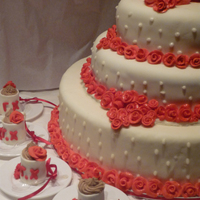 Wedding Cake With Red Roses wedding cake with red roses