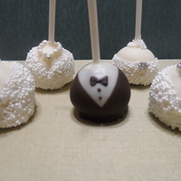 Wedding Cake Pops bridal shower cake pops, bride and groom