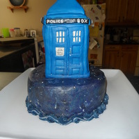 Tardis Cake For My Husbands 40Th Birthday Tardis cake for my husband's 40th birthday.