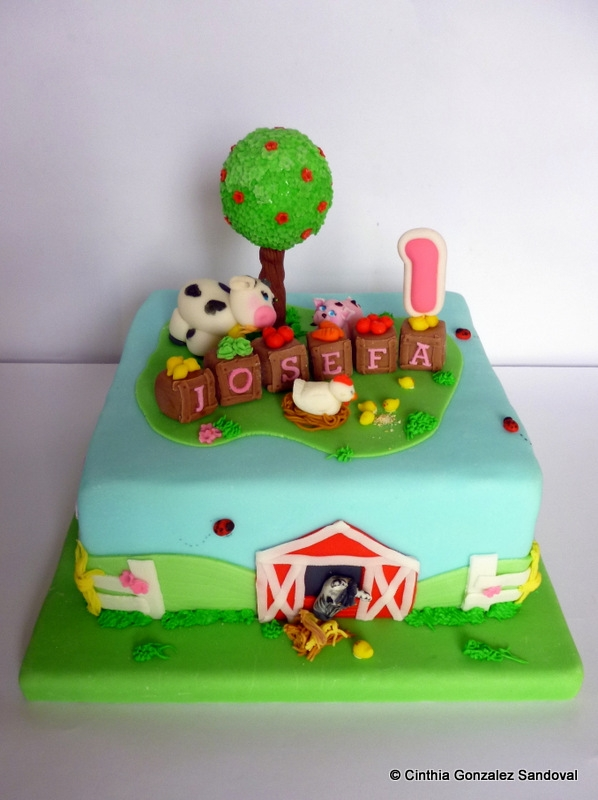 Farm Cake First Birthday