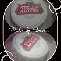 Beer/wine/cigars Bottle Cap CakeStella Artois