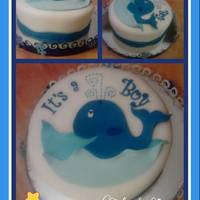 Baby Shower Cakes Whale Baby Shower Cake