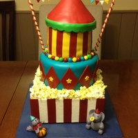 Carnival Themed Birthday Cake That I Made For My Daughters 2Nd Birthday Bottom Tier Is A Dummy Middle Tier Is Wasc W Raspberry Filling Carnival-themed birthday cake that I made for my daughter's 2nd birthday. Bottom tier is a dummy, middle tier is WASC w/ raspberry...