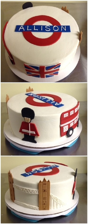 London Themed Cake Buttercream With Fondant Accents   London themed cake. Buttercream with fondant accents.