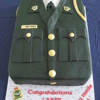 Uniform Cake To Celebrate A Retirement Chocolate Porter Cake Filled With Chocolate Smbc And Covered In Chocolate Ganache And Fondant Uniform cake to celebrate a retirement. Chocolate Porter cake, filled with chocolate SMBC, and covered in chocolate ganache and fondant.