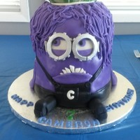 At His Request A Purple Minion Specifically Evil Kevin Although I Couldnt Accurately Replicate His Hair Cake For My Grandsons 7Th Birt At his request, a purple minion (specifically Evil Kevin, although I couldn't accurately replicate his hair) cake for my grandson&#039...