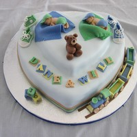 A Baby Shower Cake For A Girl Who Recently Had Twin Boys Lemon Blueberry Cake Filled With Lemon Curd Covered With Smbc And Fondant Fon A baby shower cake for a girl who recently had twin boys. Lemon-blueberry cake, filled with lemon curd, covered with SMBC and fondant....