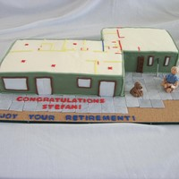 The Retiree And His Wife Are Just Building Their Dream Retirement Home So His Wife Wanted The Celebration Cake To Show The Home And Floor P... The retiree and his wife are just building their dream retirement home, so his wife wanted the celebration cake to show the home and floor...