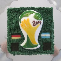 A World Cup Cake In Honour Of The Final On July 13Th The Black Squares Were Where The Appropriate Scores Would Be Added After The Game A World Cup cake in honour of the final on July 13th. The black squares were where the appropriate scores would be added after the game....