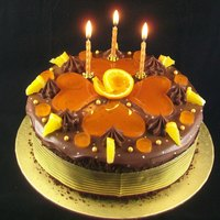 Chocolate Amp Orange Birthday Celebration Cake   Chocolate & Orange Birthday / Celebration Cake