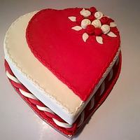 Valentine's Cake By Smartgift Cakes   A Red and White valentine's cake, very simple and easy to make