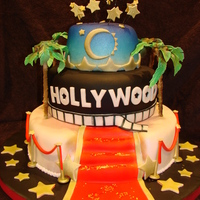 Hollywood Themed Cake For Relay For Life 2013   Hollywood themed cake for Relay for life 2013