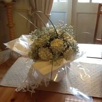 Chrysanthemum Cupcake Bouquet For A 13Th Wedding Anniversary With The Use Of Real Gypsophila As This Is Also Edible Chrysanthemum cupcake bouquet for a 13th wedding anniversary, with the use of real gypsophila as this is also edible.