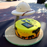 Zoo Cake With Suspended Safari Hat