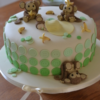 Monkey's Baby Shower Cake Lime & Coconut Baby Shower Cake :) Tfl!