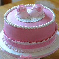 Pink Baby Booties Cake