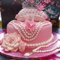 21St Birthday Cake For My Niece My First Time Using My Pearl Mould And First Time Making A Cushion Cake And First Time Making A Large Rose... 21st Birthday cake for my niece - my first time using my pearl mould and first time making a cushion cake and first time making a large...