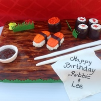 Sushi Cake I enjoyed so much doing this cake