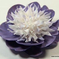White And Purple Peony A white and purple gumpaste peony, very time consuming but a lot of fun to make! You can find a tutorial on my blog if you're...