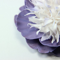Purple And White Gumpaste Peony Very Time Consuming But A Lot Of Fun To Make On My Blog Youll Find A Tutorial For It Tfl Purple and white gumpaste peony. Very time consuming but a lot of fun to make! On my blog you'll find a tutorial for it :) TFL