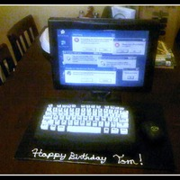 Computer Cake For My Husbands Cousin Sorry My Phone Takes Aweful Pictures   Computer cake for my husbands cousin. Sorry my phone takes AWEFUL pictures!