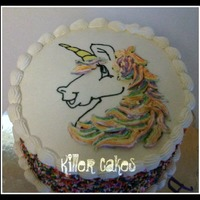 Rainbow Unicorn Birthday Cake Its Rainbow Inside Also   Rainbow Unicorn birthday cake! Its rainbow inside also