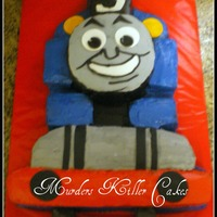Thomas The Train Cake Chocolate Cake With Imbc And Fondant Details Tfl   Thomas the train cake. Chocolate cake with IMBC and fondant details. TFL