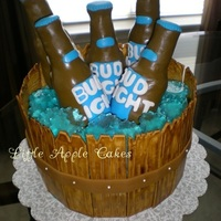 Beer Barrel Birthday Cake Beer barrel birthday cake, inspired by cakes found on CC..