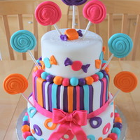 Candy Themed Bat Mitzvah Cake Candy themed Bat Mitzvah cake