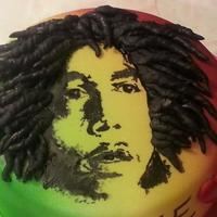 Bob Marley Hand Painted Cake *I made this for my son for his 17th birthday, all hand painted. The significance of the fondant chicken legs is the fact that is what I...