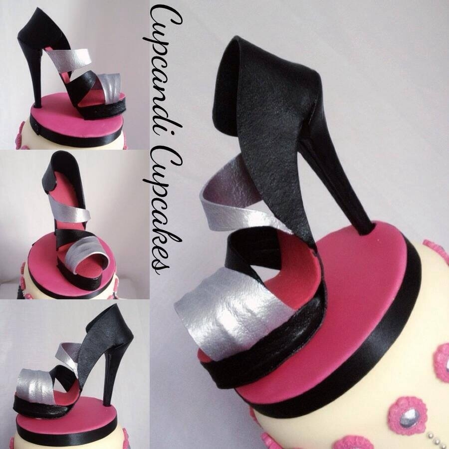 Pink, Black & Metalic Shoe