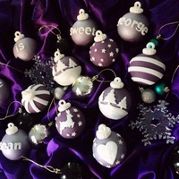 Regal Purple Christmas Bauble Cupcakes Regal purple christmas bauble cupcakes
