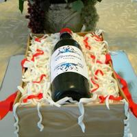 Wine Bottle Cake *Wine Bottle Cake