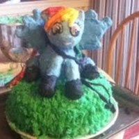 I Made This Cake For My Friends Birthday Party Who Loves Rainbow Dash From My Little Pony And Hawkeye From The Avengers On The Inside It I made this cake for my friends birthday party, who loves Rainbow dash from my little pony, and Hawkeye from the Avengers. On the inside it...