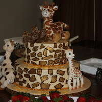 Repost Of Giraffe Print Baby Shower Cake