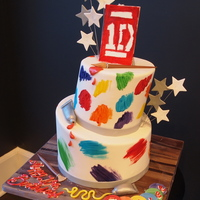 We Created This Cake For A Special Birthday Girl Who Loves One Directionmusic And Painting What Do You Think We created this cake for a special birthday girl who loves one direction/music, and painting!! What do you think?