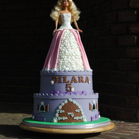 Barbie Doll Castle Cake