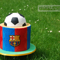 Fc Barcelona Soccer Cake Hi there! Hope you'll enjoy my FC Barcelona Cake I made for my nice. I was wondering how I could make a soccer cake for a girl and...