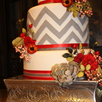 Fall Chevron Cake