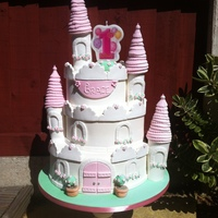 Princess Castle Cake This is the castle cake I made especially for my daughters 1st birthday :)