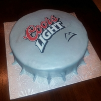 Coors Light Bottle Cap Cake Left Side Coors Light Bottle Cap Cake - Left side