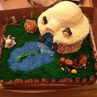 Zoo Cake   *zoo cake, animals, igloo, monkeys, zebra, owl, penguin, lion, gator