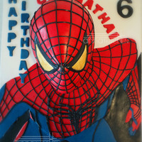 Spiderman 3D - Anamorphic Illusion I've tried to infuse 3D - Anamorphic illusion here. The cake looks like Spiderman ( The Amazing One as requested by my son) is...
