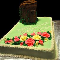 Outhouse Retirement Cake Outhouse retirement cake